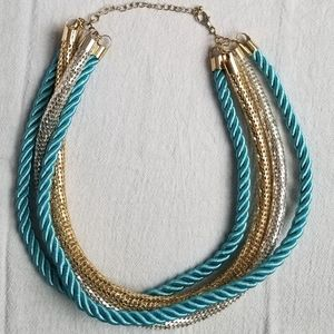 Jewelry - Rope and Metal Layered Necklace